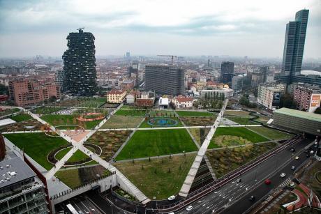 Milano Biblioteca Alberi