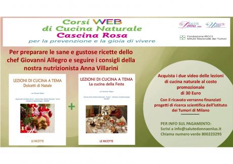 Promo per acquisto video corsi di cucina on line