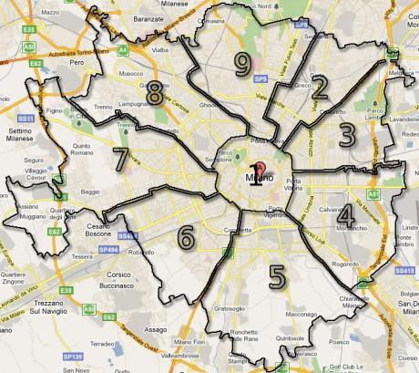 Milano.Zone .Quartieri