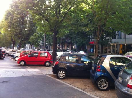 auto sotto alberi